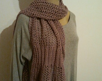 Soft knitted pure Leinenschal in old rose