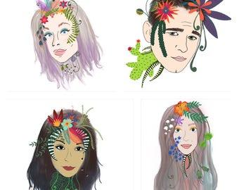 Custom floral portraits digital copy