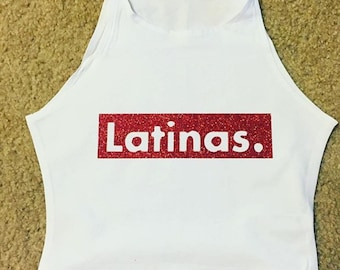 Latinas. Crop Top or T-Shirt