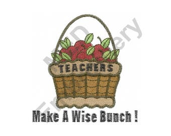 Teachers - Machine Embroidery Design, Apples