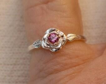 Baby sized Rhodolite Garnet Ring