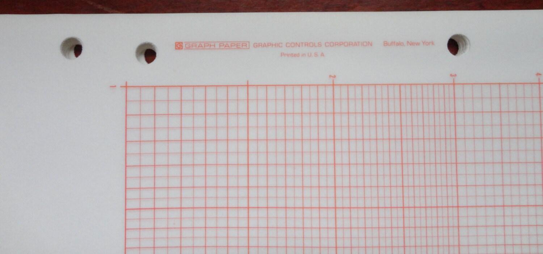 Vintage graph paper: Graphic Controls logarithmic, AL-0947-01, 15 ...