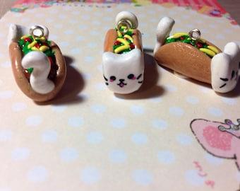Kawaii Taco Cat Charm
