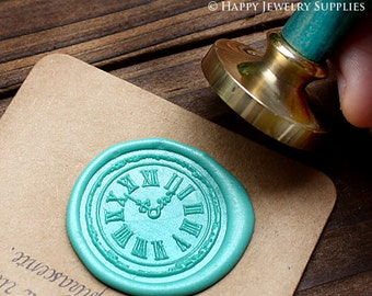 Buy 1 Get 1 Free - 1pcs Clock Gold Plated Wax Seal Stamp (WS056)
