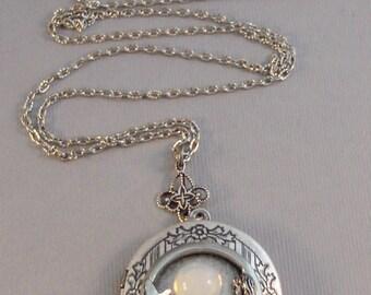 Mystic Mermaid,Mermaid Necklace,Mermaid Locket,Locket in Handmade,Moonstone Necklace,Moonstone Locket,Moonstone Mermaid,Moon Necklace,mermai