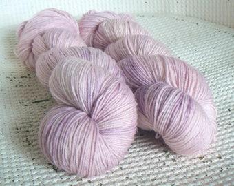Seashell - Hand Dyed Sock Yarn - Merino Nylon - Pale Pink Tonal