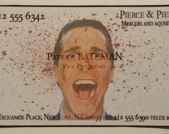 American psycho patrick bateman business card 3d art american psycho patrick bateman business card magnet for indoor metal magnetic application colourmoves
