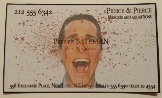 American psycho patrick bateman business card magnet for colourmoves