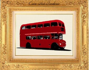 London bus counted cross stitch