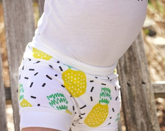 Pineapple, Bummies, Shorties | Baby Clothes | Baby Girl | Baby Boy | Bloomers | Shorts | Tropical | Beach Baby | Pineapple Shorts