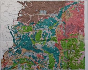 Piedmont map Etsy