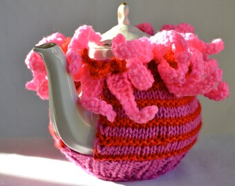 Tea Cozy: Slip-On Tea Cozy Pink, Purple, Red