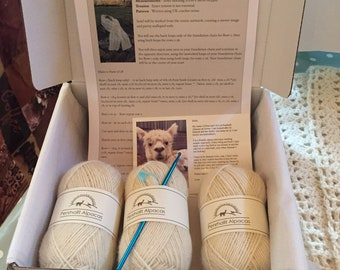 Crochet Alpaca Scarf Kit