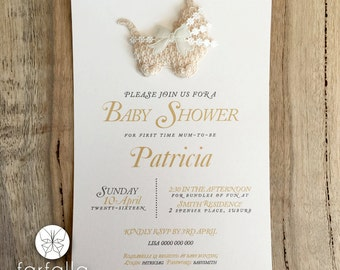 Baby Shower Invitation // Pram Embellishment // Quartz Card // 120 x 180mm
