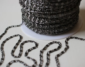 Shiny Gunmetal Filigree Chain 3 Feet