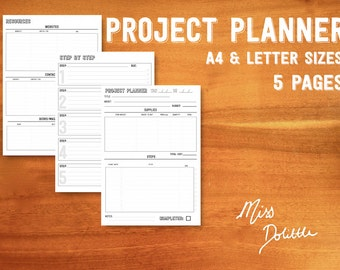 PROJECT PLANNER - printable A4 & letter size