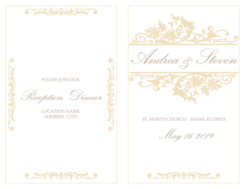 Ausgezeichnet Hochzeits Programm Schablone Galerie - Bilder für das ...