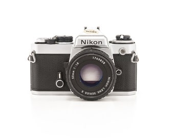 Nikon FE 35mm film camera with Nikon Lens Series E - great working 35mm Film Camera and a Great Student Camera