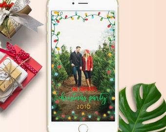 holiday snapchat filter christmas snapchat geofilter christmas party filter personalized snapchat geofilter