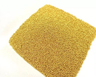 Large Tube of micro beads gold plated