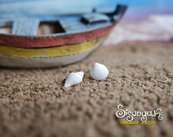 White Sea Shells Earrings - Gifts for her