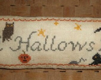 Primitive Cross Stitch Sampler pattern  All Hallows Eve pdf