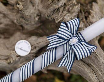 Baby blue Boy BAPTISM, candle First Communion,vela de Primera Communion, Bautizo, Custom made, Easter candle, Christening candle