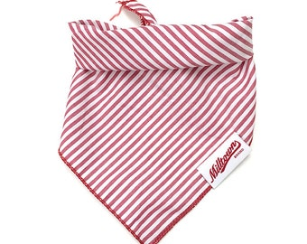 Dog Bandana - Red Pin Stripe