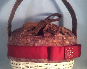 SALE- Modern Batik Hand Woven Basket Purse