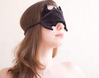 Batman Sleep Mask, Eye Mask, Batman Costume, Marvel Gifts for Travelers, Black Sleeping Mask, Gift for Geeks, Halloween Mask, US Express