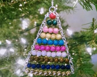 Montessori Ornament~Bead Stair, wooden beads