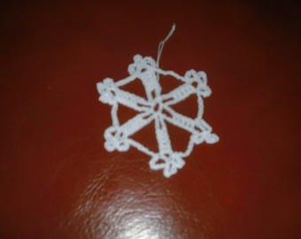 set of 5 Christmas stars to hang in white cotton