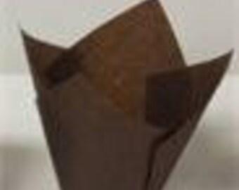 100 Brown TULIP Baking Cups random Tip