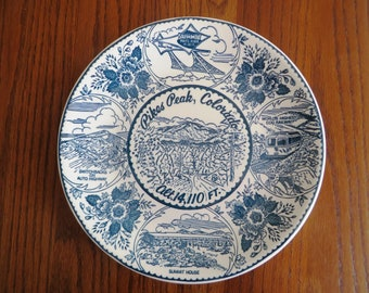 Pike's Peak Souvenir Plate