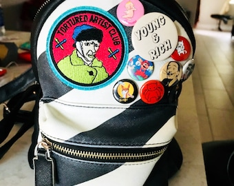 Vintage 1990s Club Kid NYC Style Young and Rich Celebutante Pop Art Pin Button