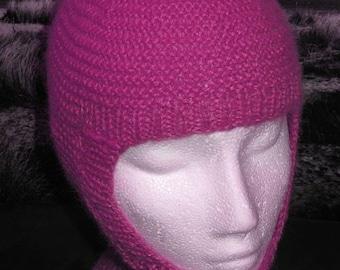 HALF PRICE SALE Instant Digital File pdf download knitting pattern - madmonkeyknits Garter Stitch balaclava and Beanie pdf knitting pattern.