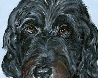 custom labradoodle art from photo painting of a labradoodle lab poodle pet portraits from photograph pet portrait pet memorial art pet loss