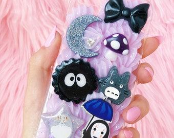 Ghibli iPhone 7 Decoden case, kawaii iphone 7 case, pastel Kuma case, kawaii decoden case, iphone 7 decoden, pastel decoden