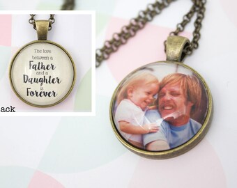 Two Sided Photo Necklace - Double Photo Custom Jewelry - Personalized Photo Pendant - Picture Necklace - 25 mm / 1 inch Circle