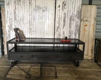 Industrial steel Tv Cabinet