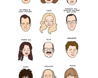 Arrested Development Mood Chart Print - Hand-Illustrated