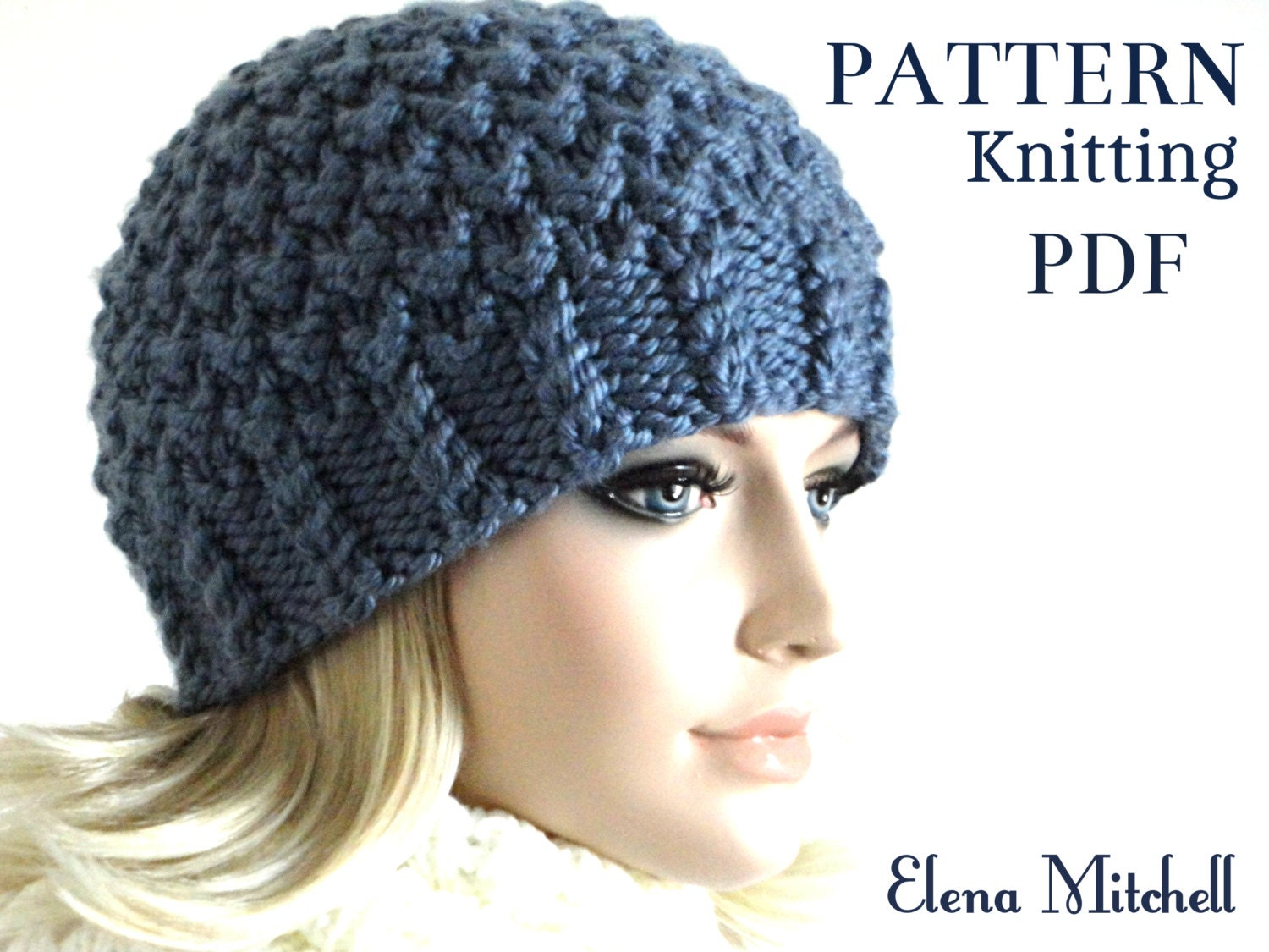 Knitting Pattern Hat Knit Beanie Pattern Women Hat Pattern Girls ...