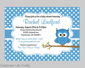 Owl baby shower invitations printable baby girl shower baby shower invitations printable baby boy shower invite owl baby shower theme blue filmwisefo Image collections