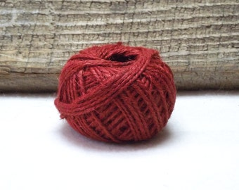 30 Yard Package of 1.5mm Jute Twine in Rich Red