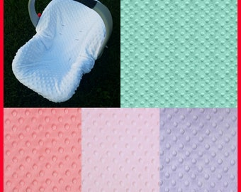 Car seat Minky Cover Infant Carseat Pick colors infant car seat car seat liner minky car seat car seat cover carseat canopy carseat liner