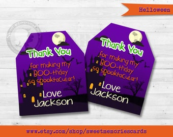 Halloween Favor Tags, Hallowen Birthday Party, Kids Halloween Party, Halloween Gift Tags, Halloween favors, Halloween Gift Ideas