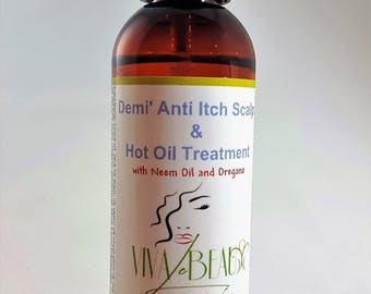Demi Anti Itch and Hot Oil Treatment for Your Scalp's Flakinesss and Dryness and your Hair for Shine and Moisture
