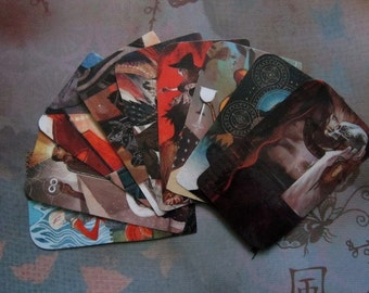 Dragon Age Inquisition Inspired small Laminated Tarot Card Party Member book mark