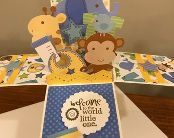 New Baby Card in a Box