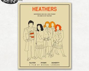 HEATHERS Movie Poster, Fine Art Print (beige version)